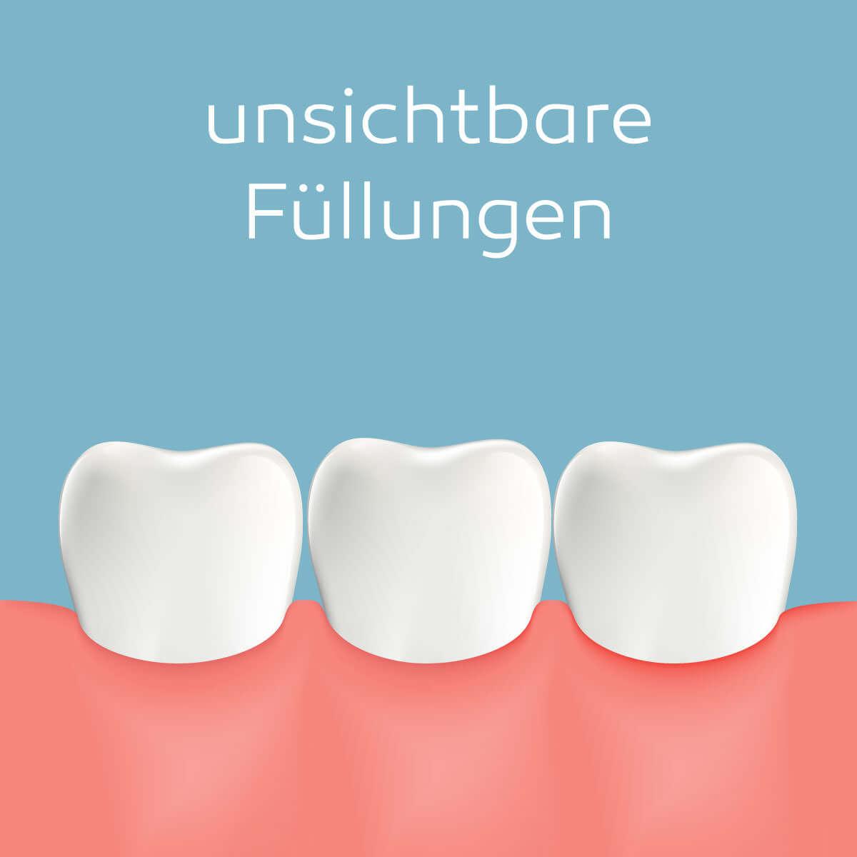 unsichtbare Zahnfüllungen
