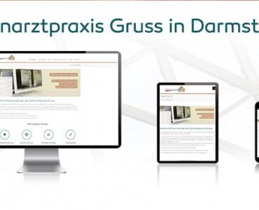 Neue Webseite Zahnarzt Darmstadt Gruss